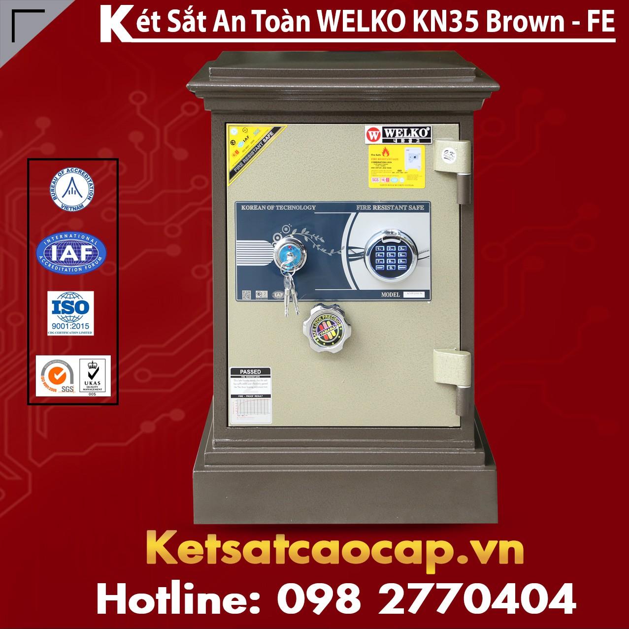 Két Sắt Khoá Vân Tay WELKO KN35 Brown - FE