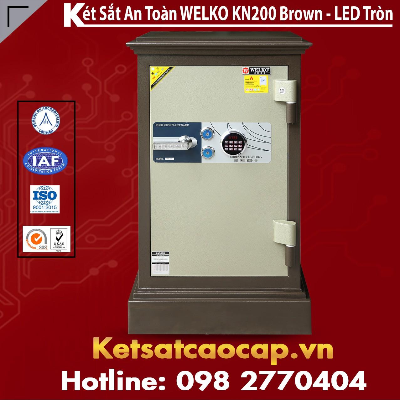 Két Sắt WELKO KN200 Brown - LED Tròn