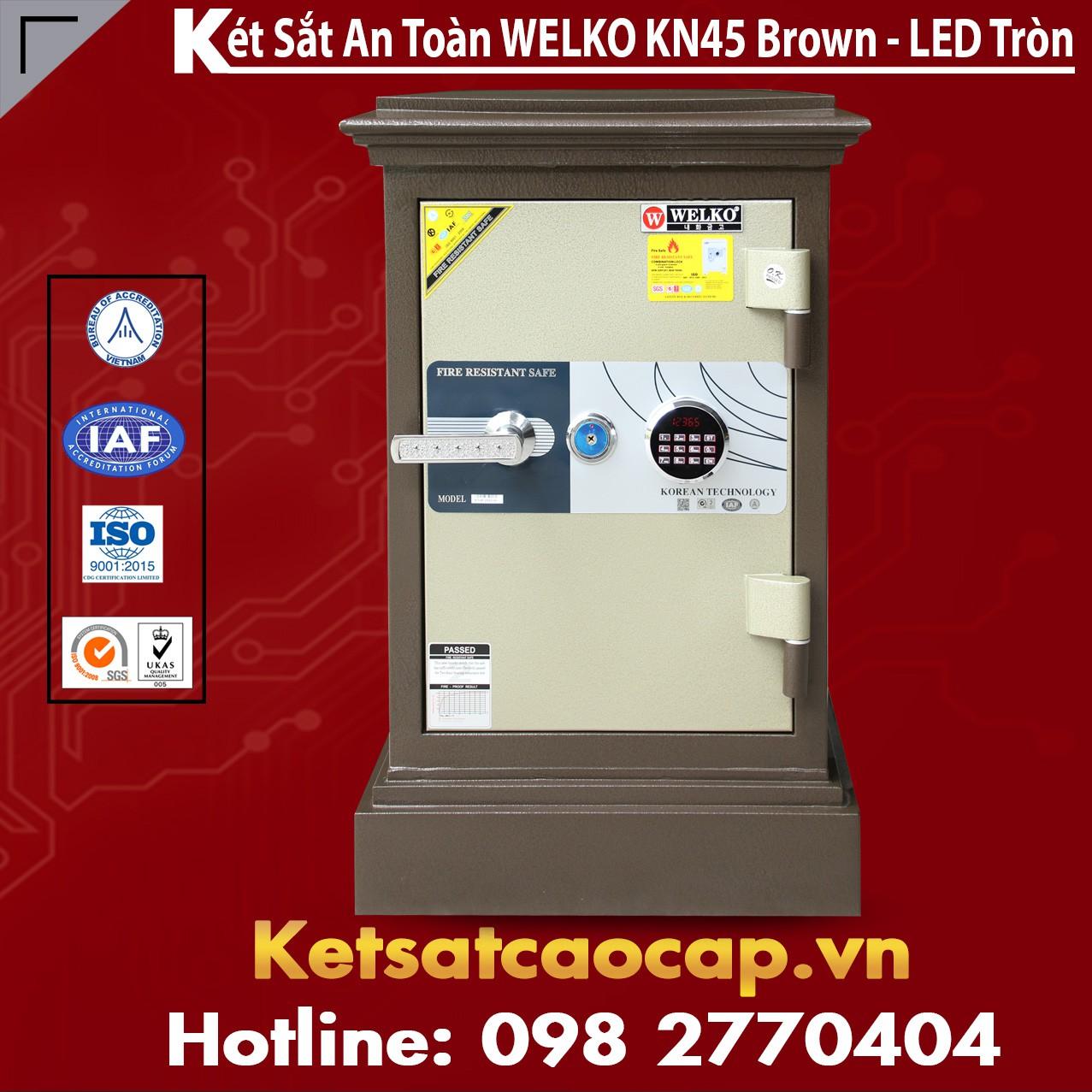 Két Sắt WELKO KN45 Brown - LED Tròn