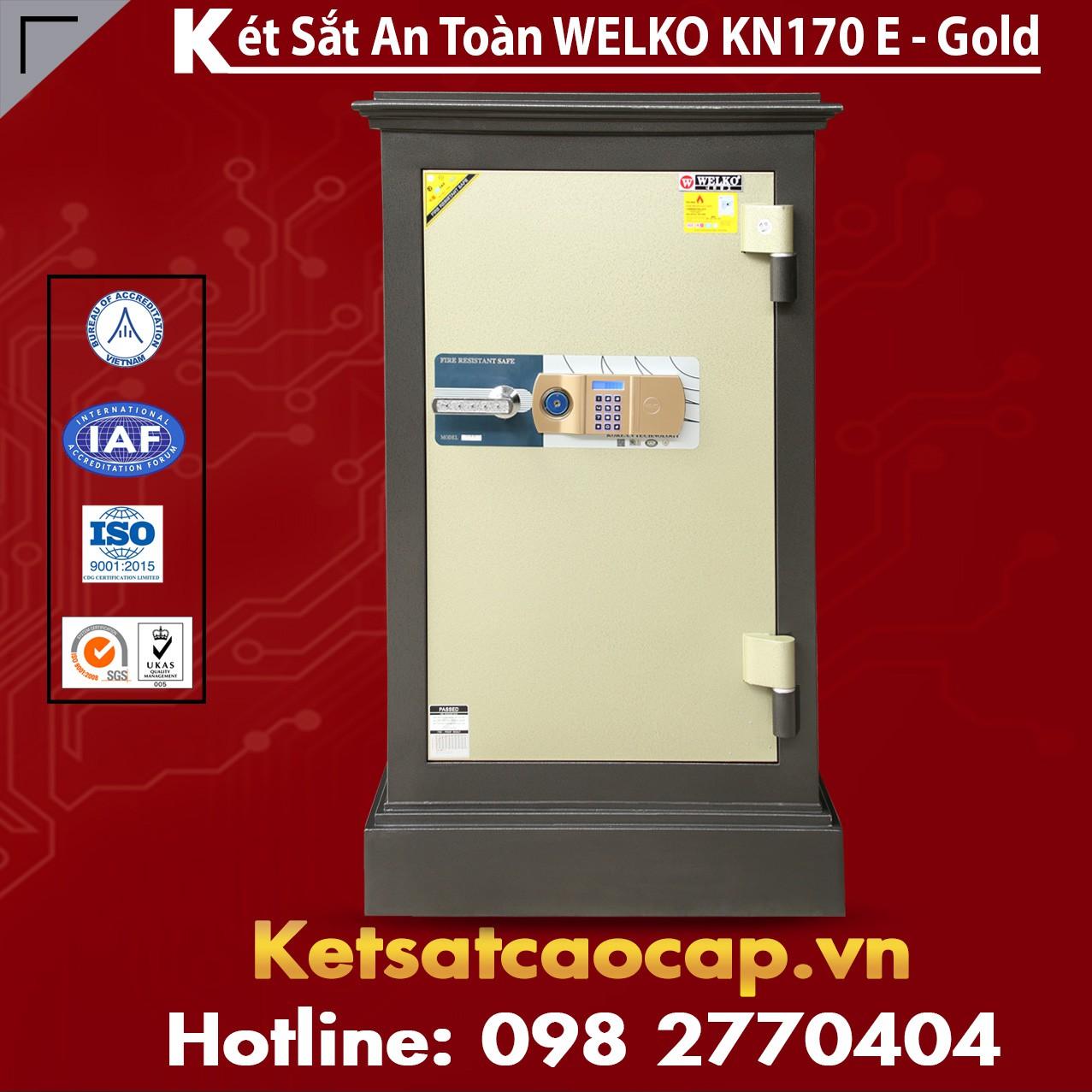 Két Sắt Đặt Theo Yêu Cầu WELKO KN170 Black E Gold