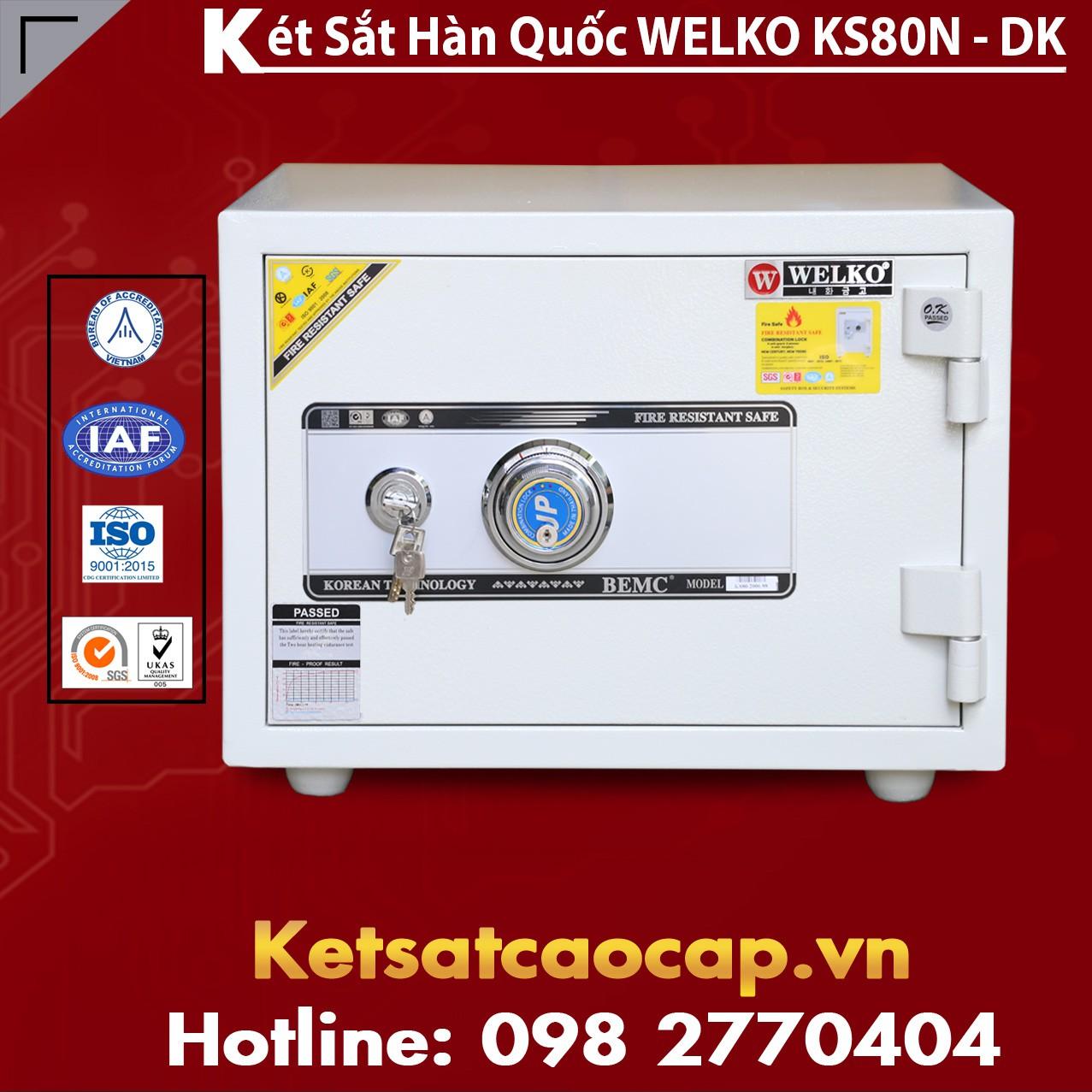 Két Sắt Văn Phòng KS80N - DK White