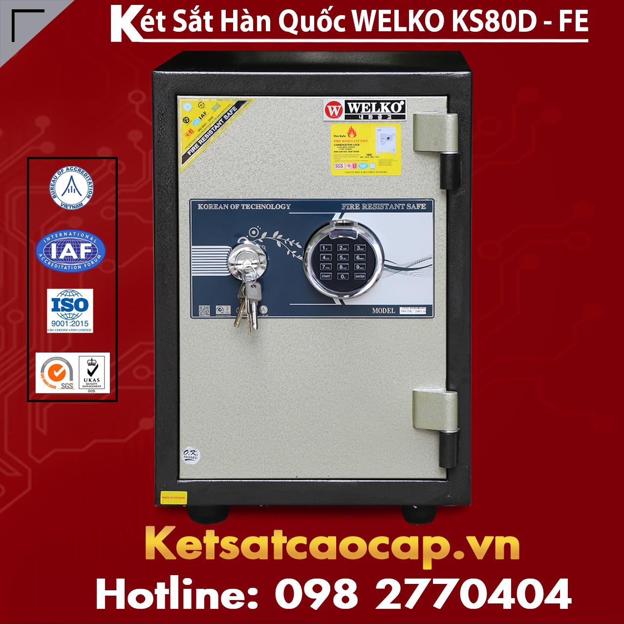 Két Sắt Vân Tay KS80D - FE