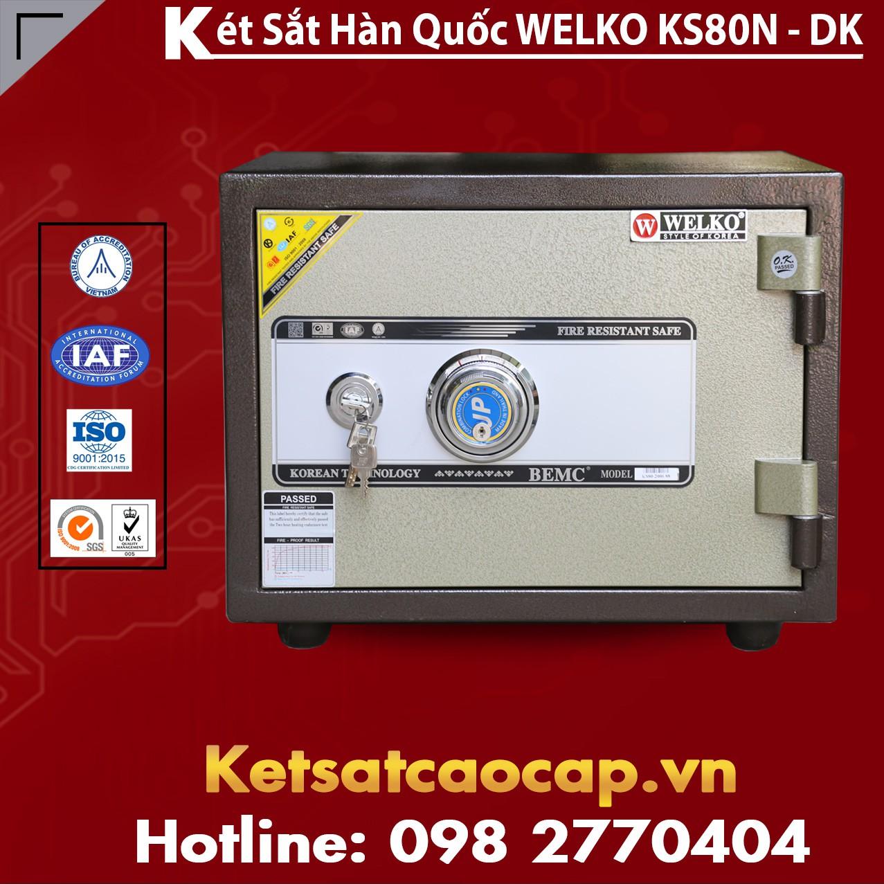 Két Sắt Văn Phòng KS80N - DK Brown