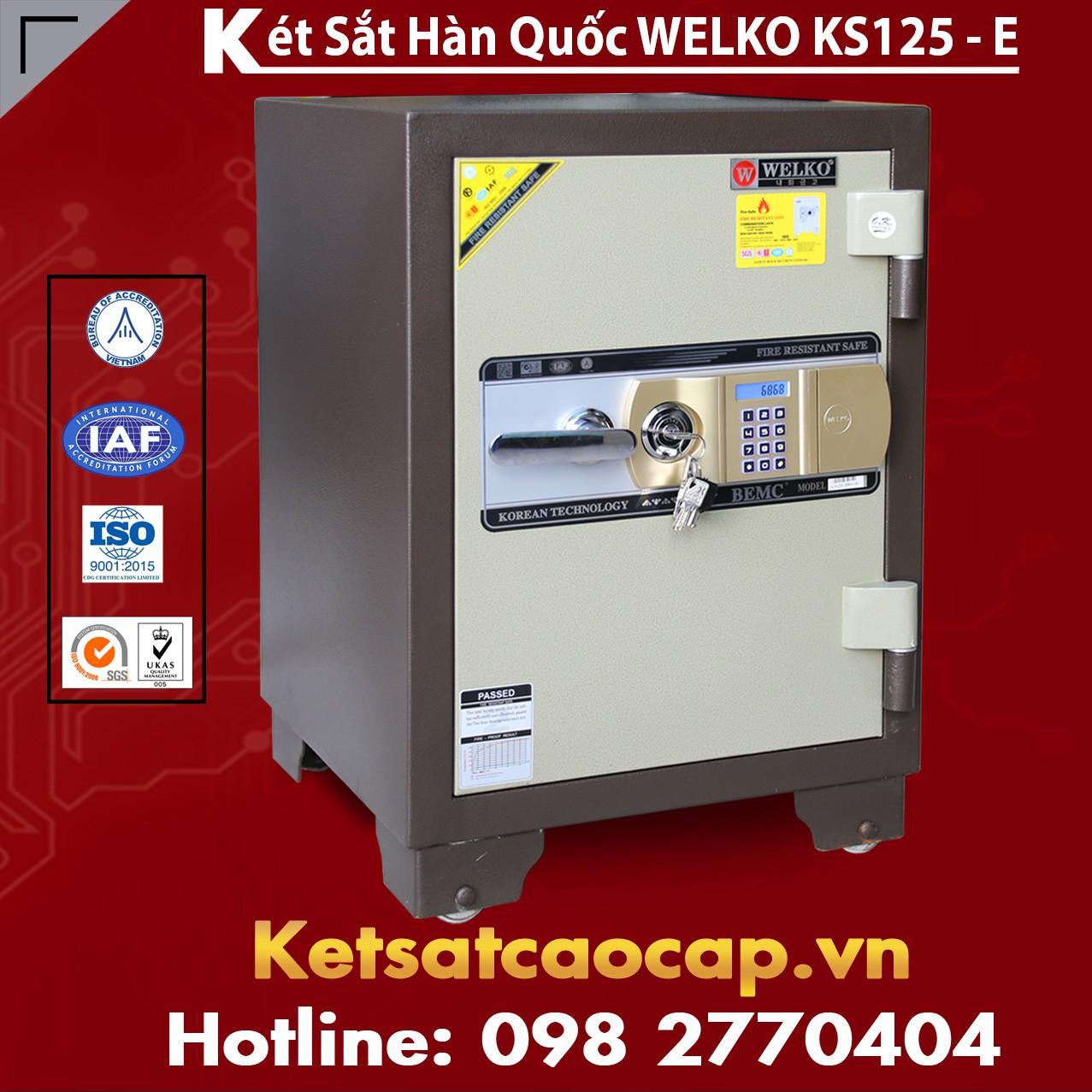 Két Sắt Văn Phòng WELKO KS125 Brown - E Gold
