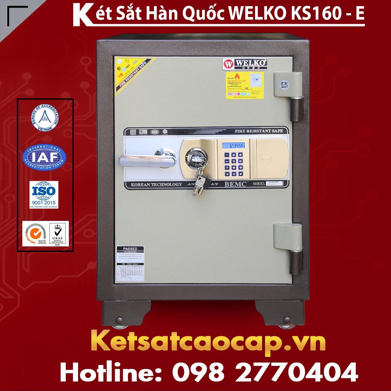 Két Sắt Văn Phòng WELKO KS160 Brown - E Gold
