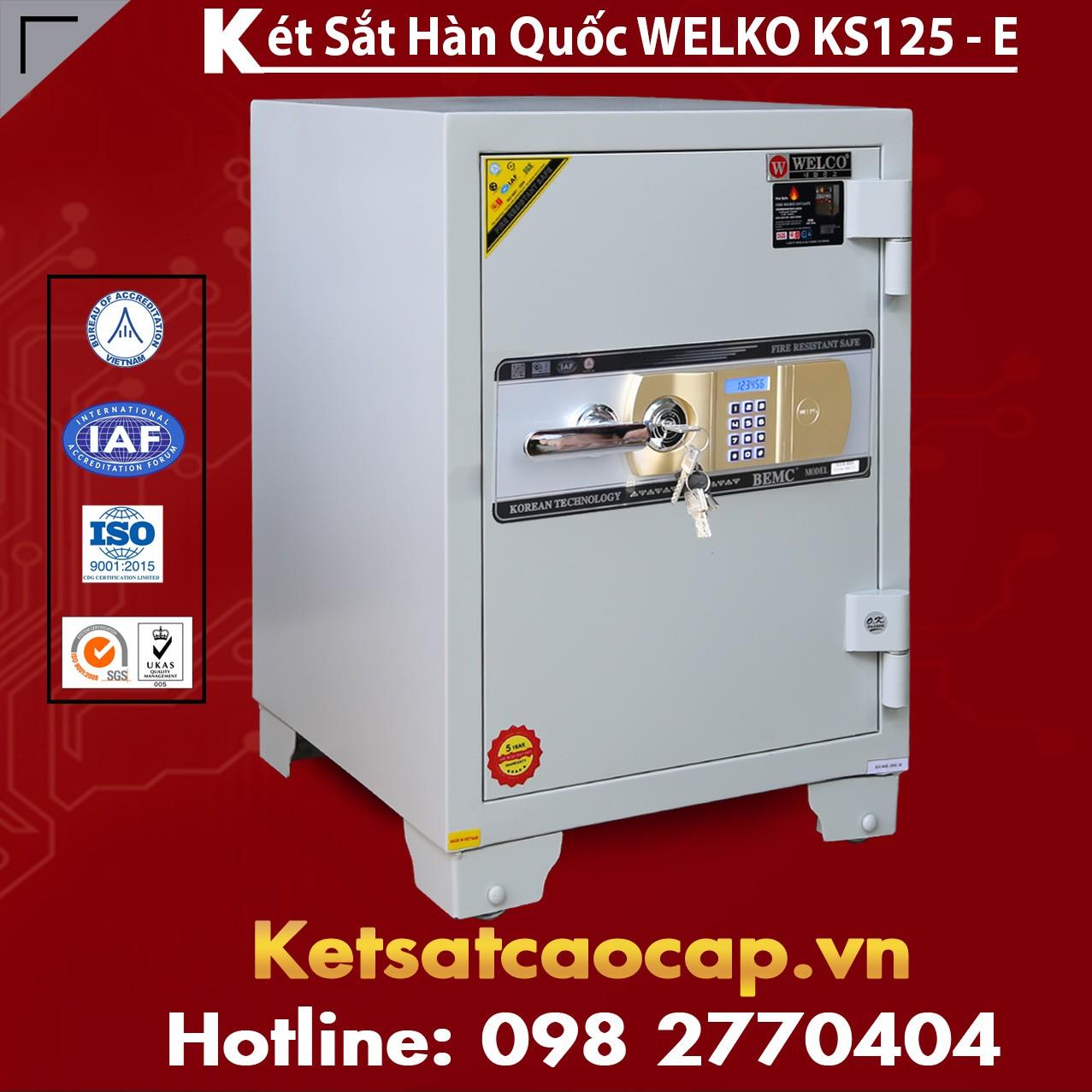Két Sắt Văn Phòng WELKO KS125 White - E Gold
