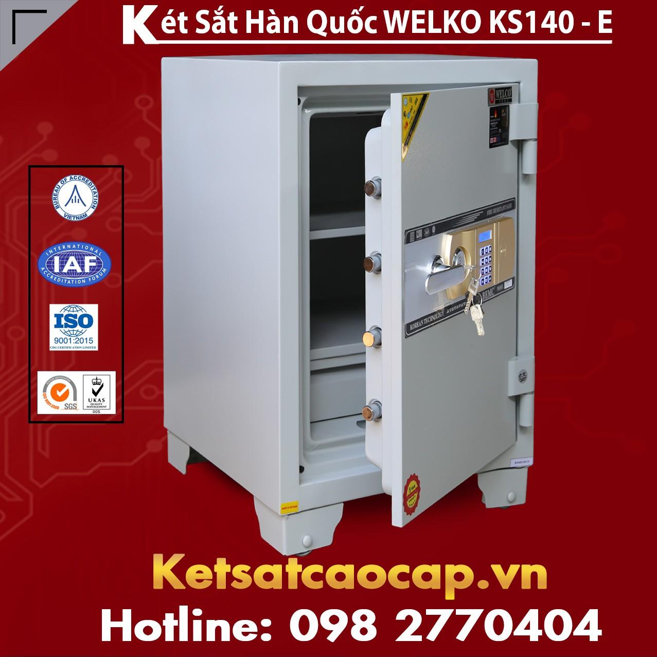 Két Sắt Văn Phòng WELKO KS140 White - E Gold