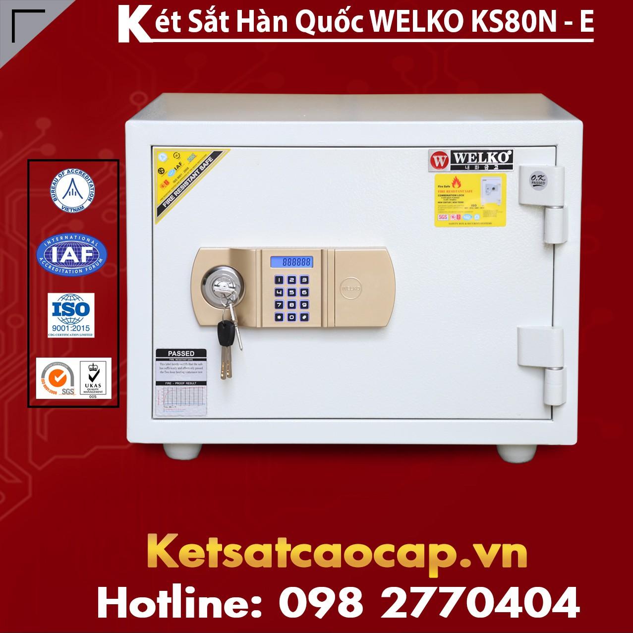Két Sắt Văn Phòng WELKO KS80N White - E Gold