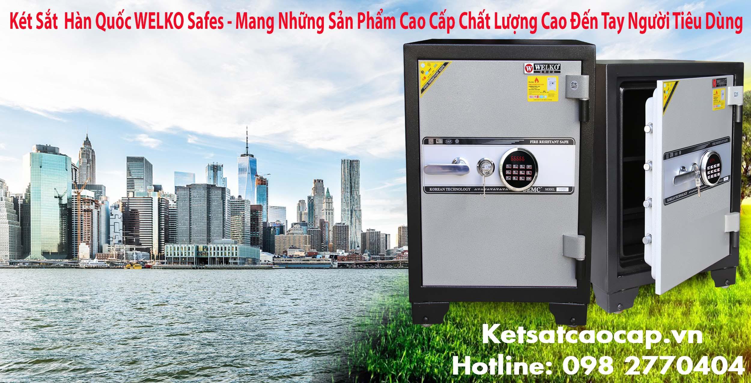 hình ảnh sản phẩm két sắt chống cháy welko safe KCC80ĐM