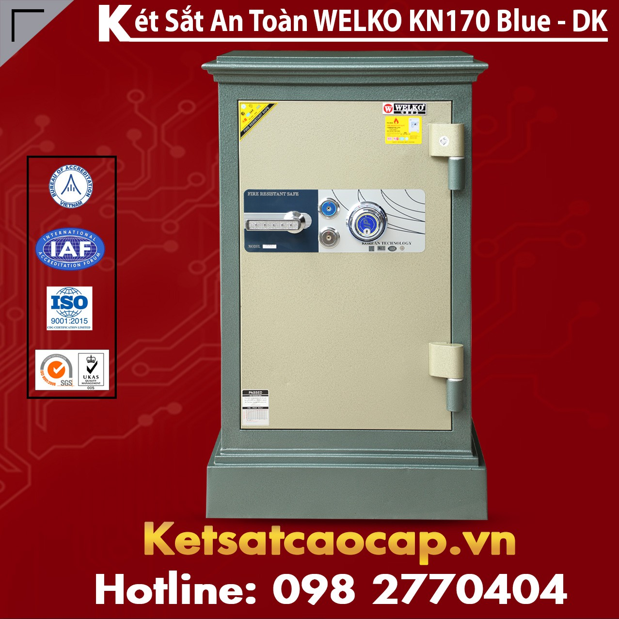 Két Sắt Thanh Hóa WELKO KN170 BLUE - DK