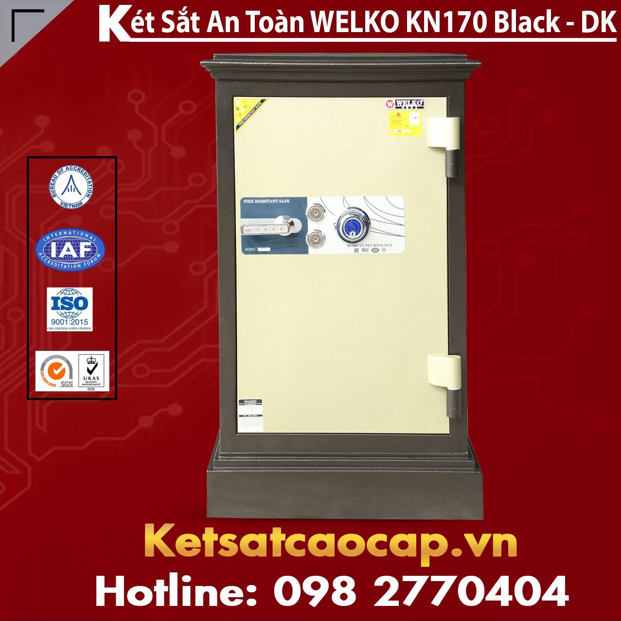 Két Sắt Chính Hãng WELKO KN170 Black - DK