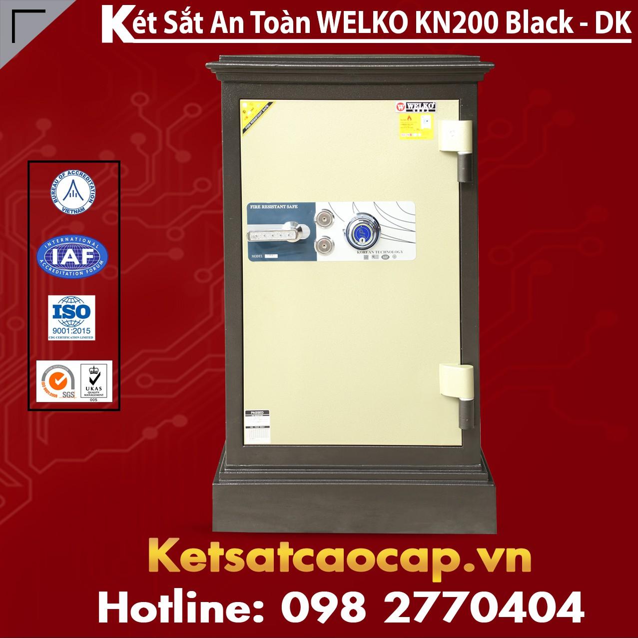 Két Sắt Chính Hãng WELKO KN200 Black - DK
