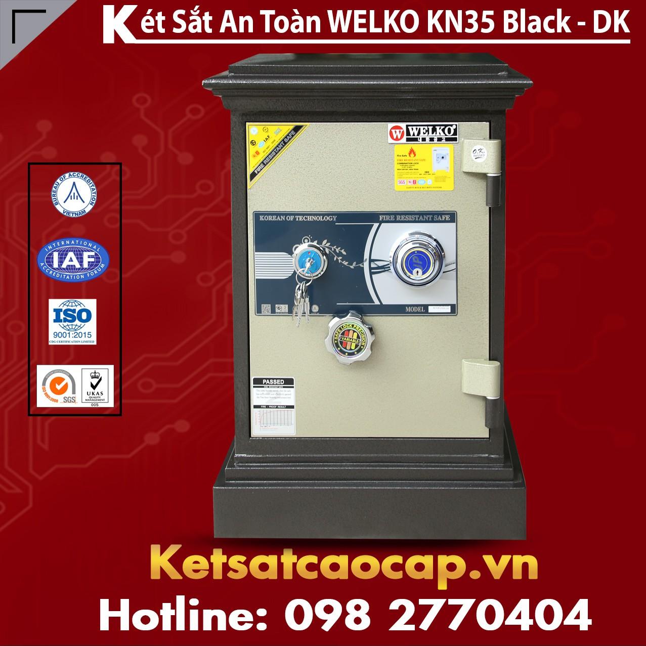 Két Sắt Chính Hãng WELKO KN35 Black - DK