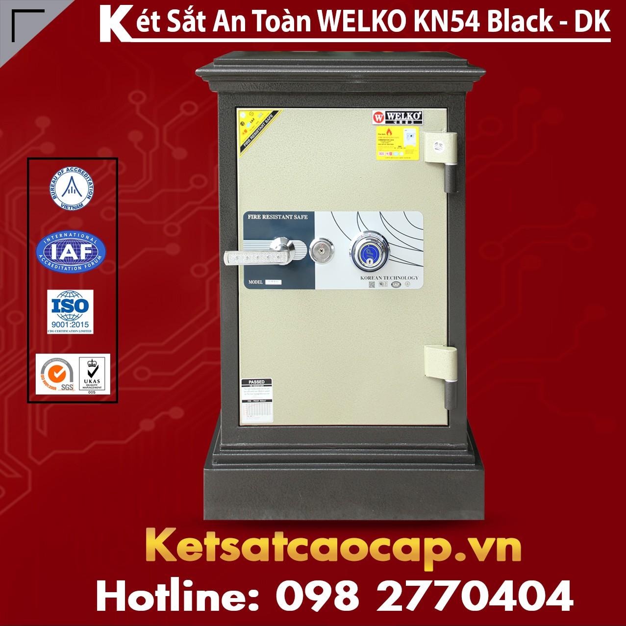 Két Sắt Chính Hãng WELKO KN54 Black - DK