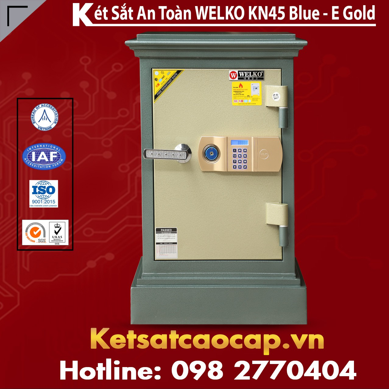 Két Sắt Chống Cháy Sài Gòn KN45 - E Gold