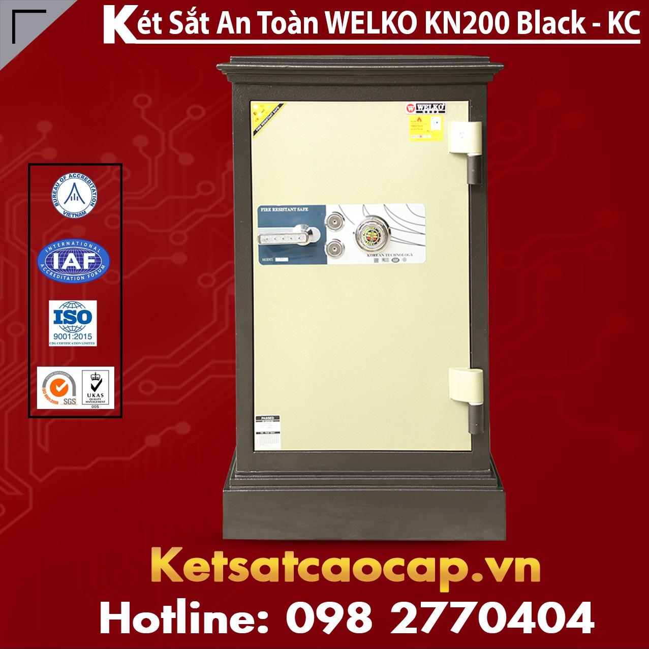 Két Sắt Khoá Cơ WELKO KN200 Black - KC