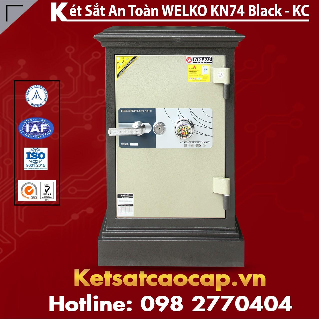 Két Sắt Khoá Cơ WELKO KN74 Black - KC