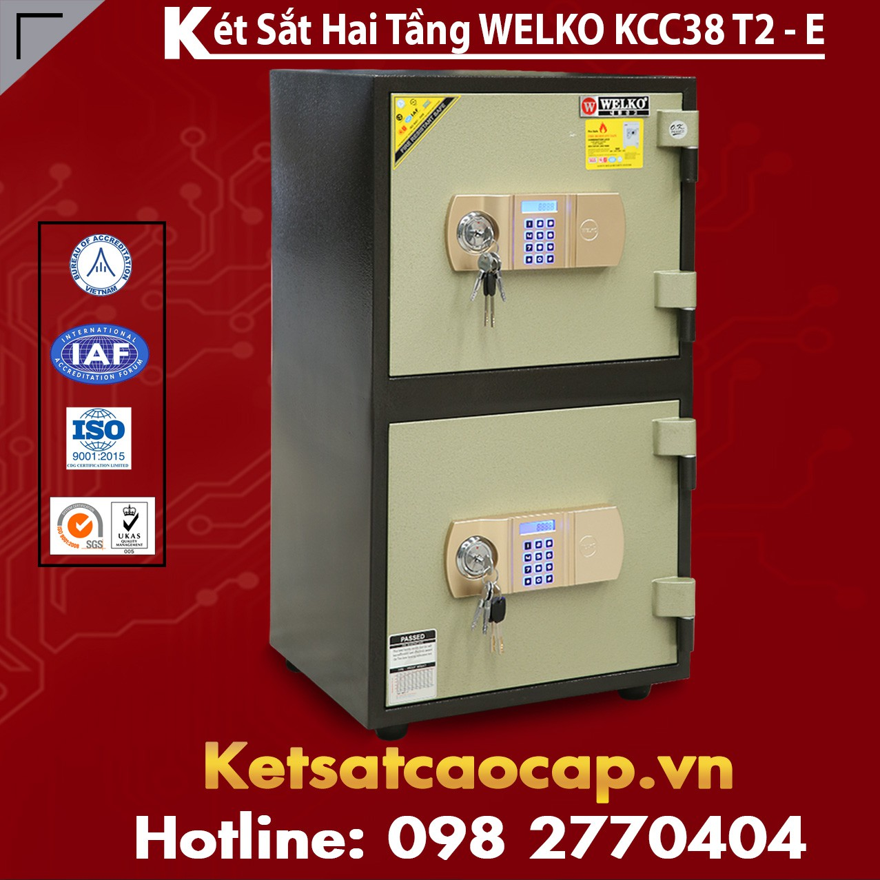 Két Sắt Hai Tầng WELKO KCC38 T2 - E