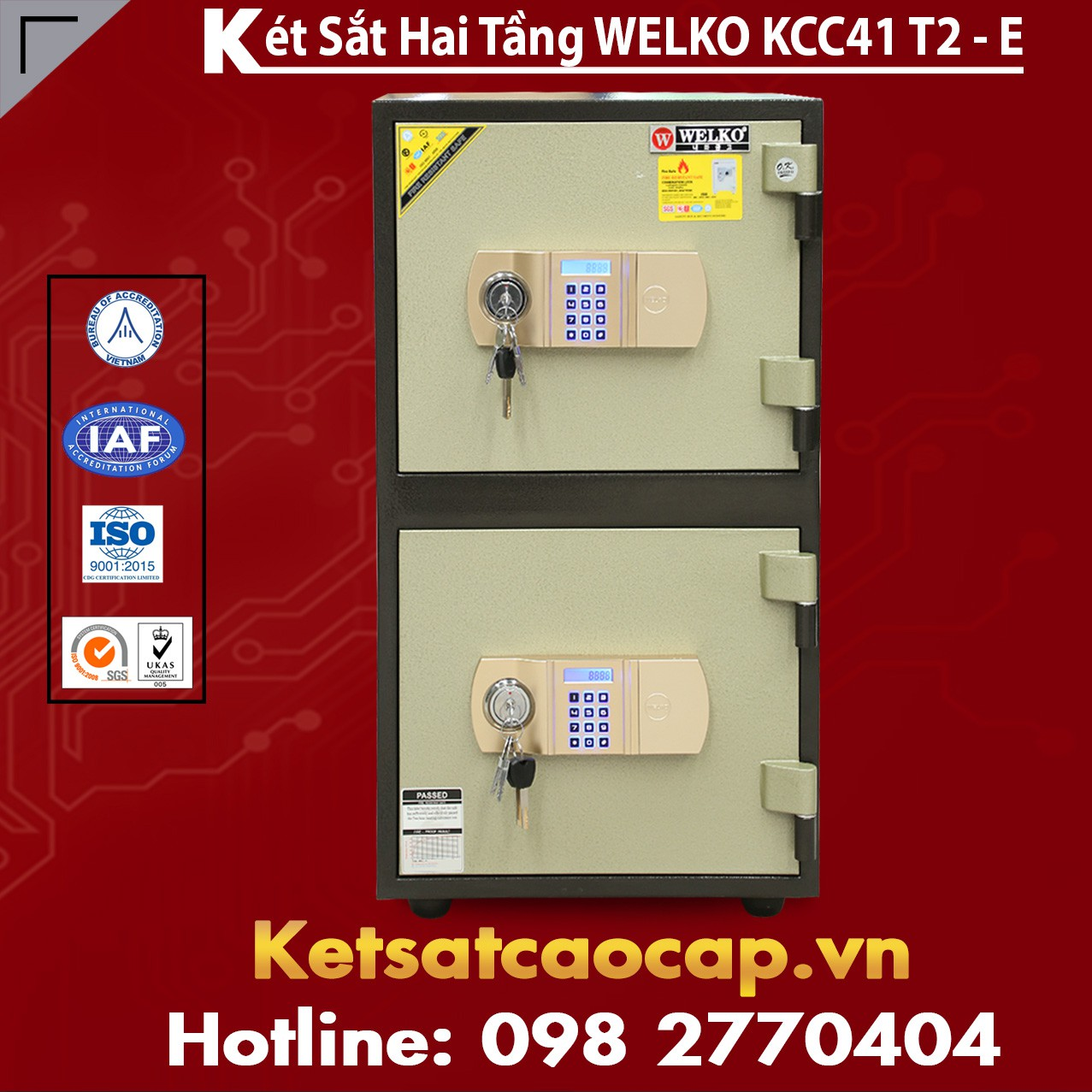 Két Sắt Hai Tầng WELKO KCC41 T2 - E
