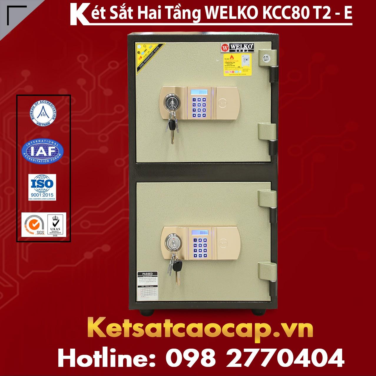Két Sắt Hai Tầng WELKO KCC80 T2 - E