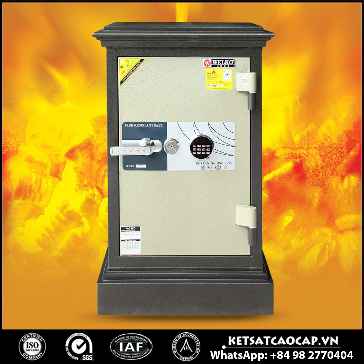Két Sắt Thép Tấm Siêu Cường WELKO X740 - LED Tròn