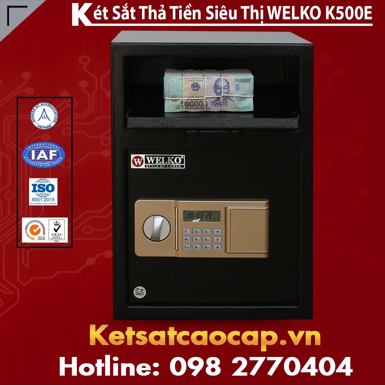 Két Sắt Thả Tiền Siêu Thị WELKO K500E