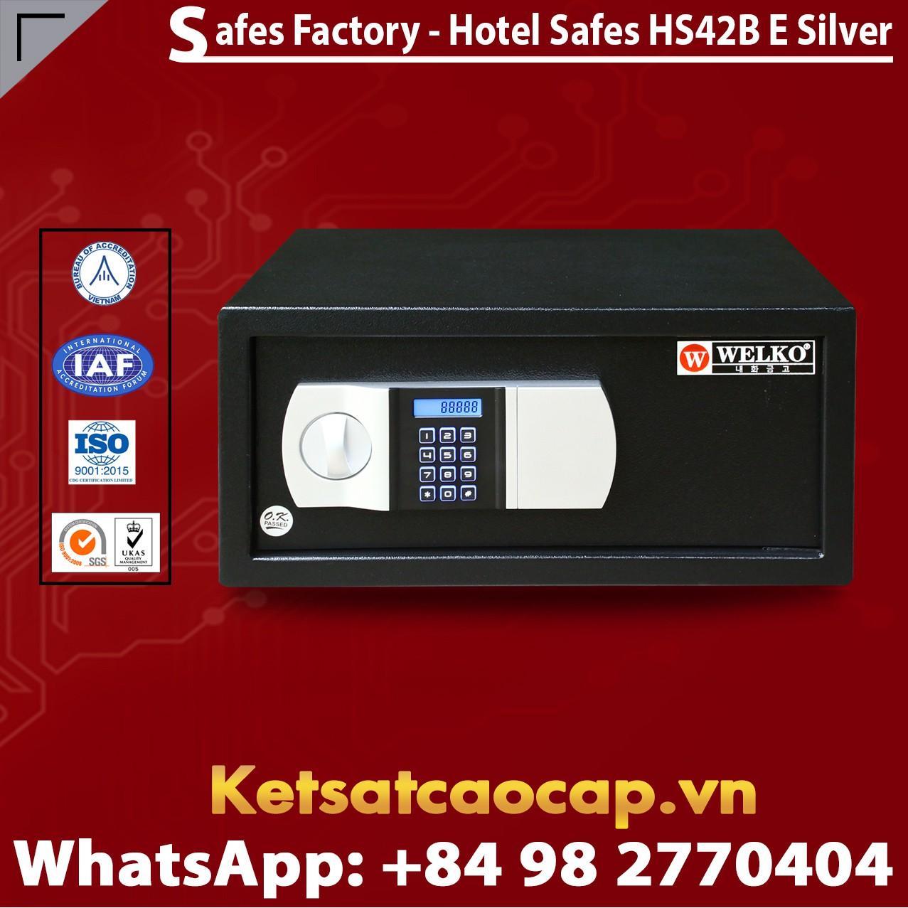 Két Sắt Khách Sạn Hotel Safes WELKO HS42 Black - E Silver