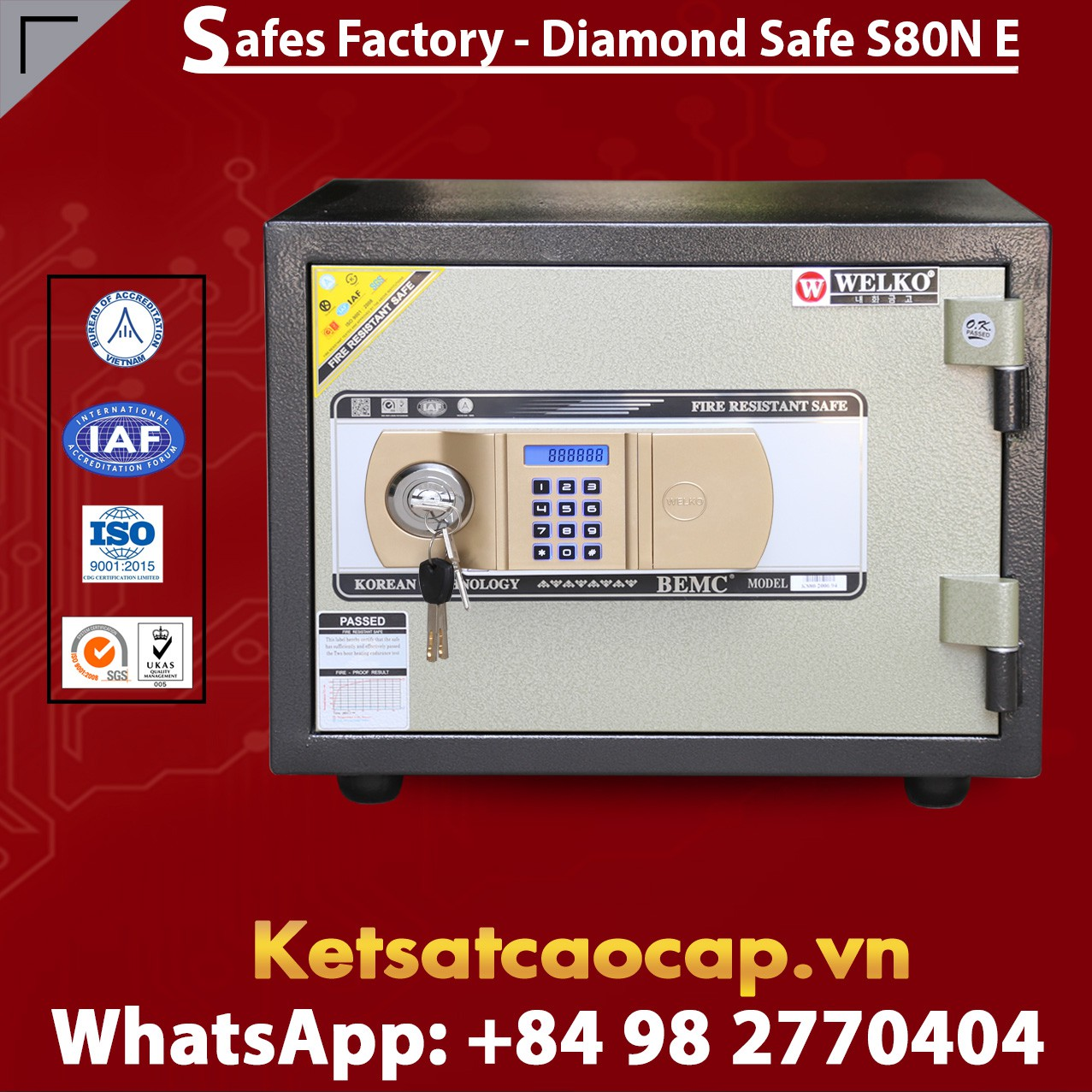OFFICE SAFES S80N GOLD EVN