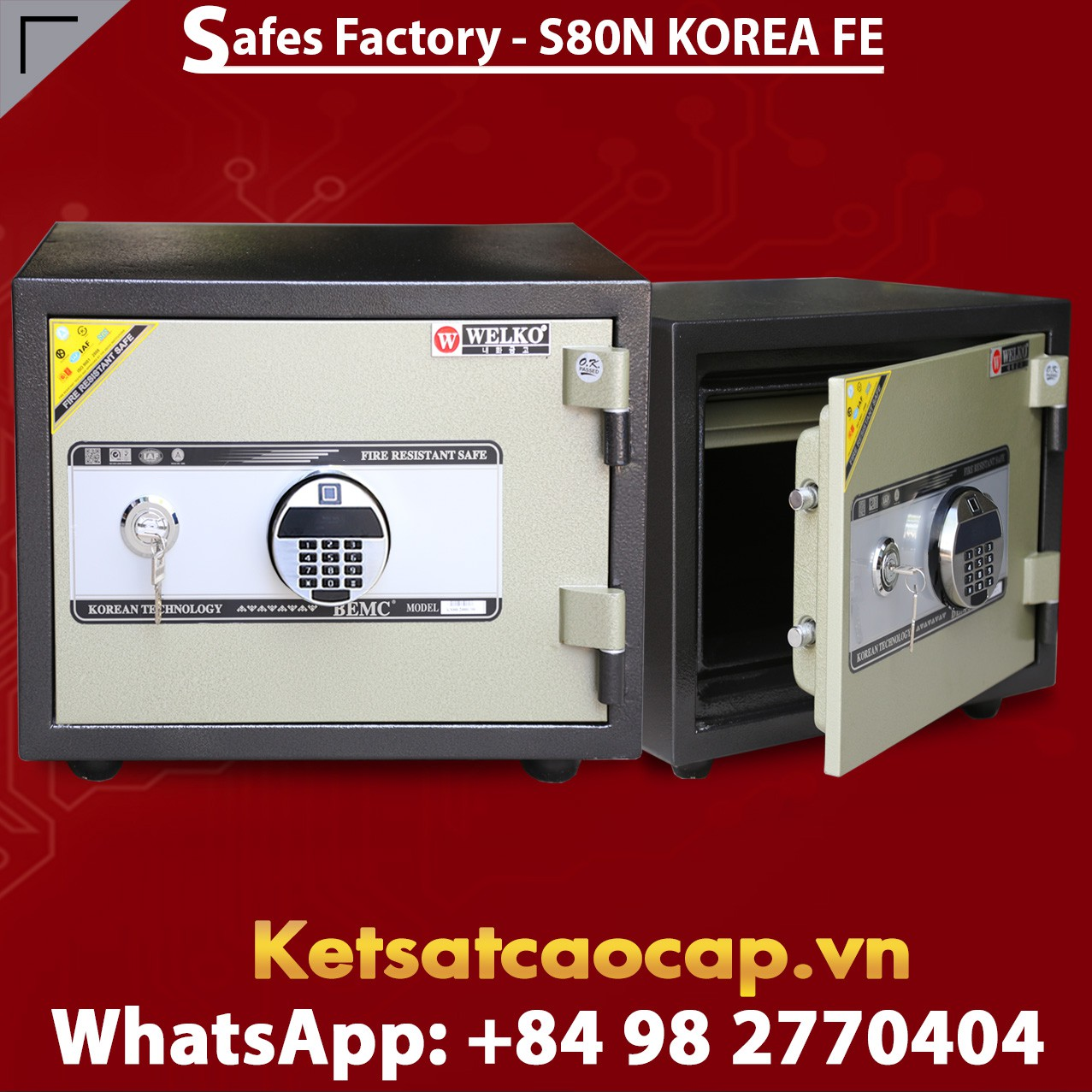 BURGLARY FIRE SAFE S80N FE