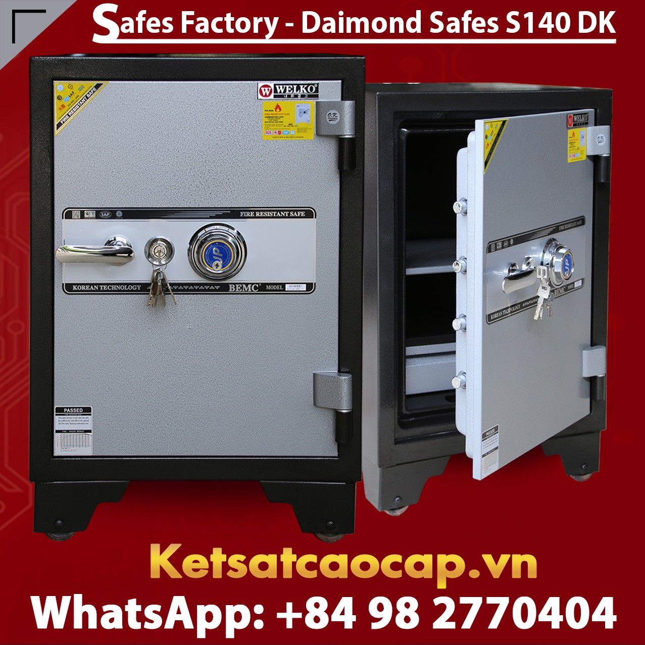 SECURITY STEEL SAFES S140 DK