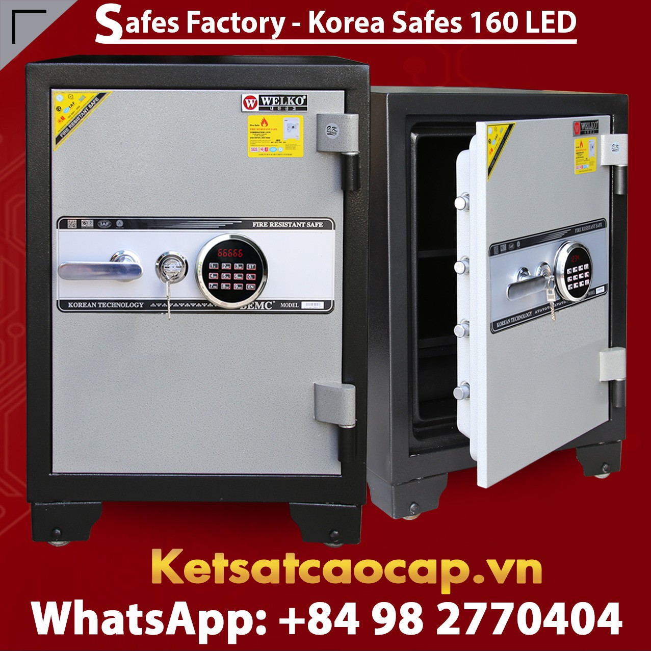 SECURITY STEEL SAFE S160 LED