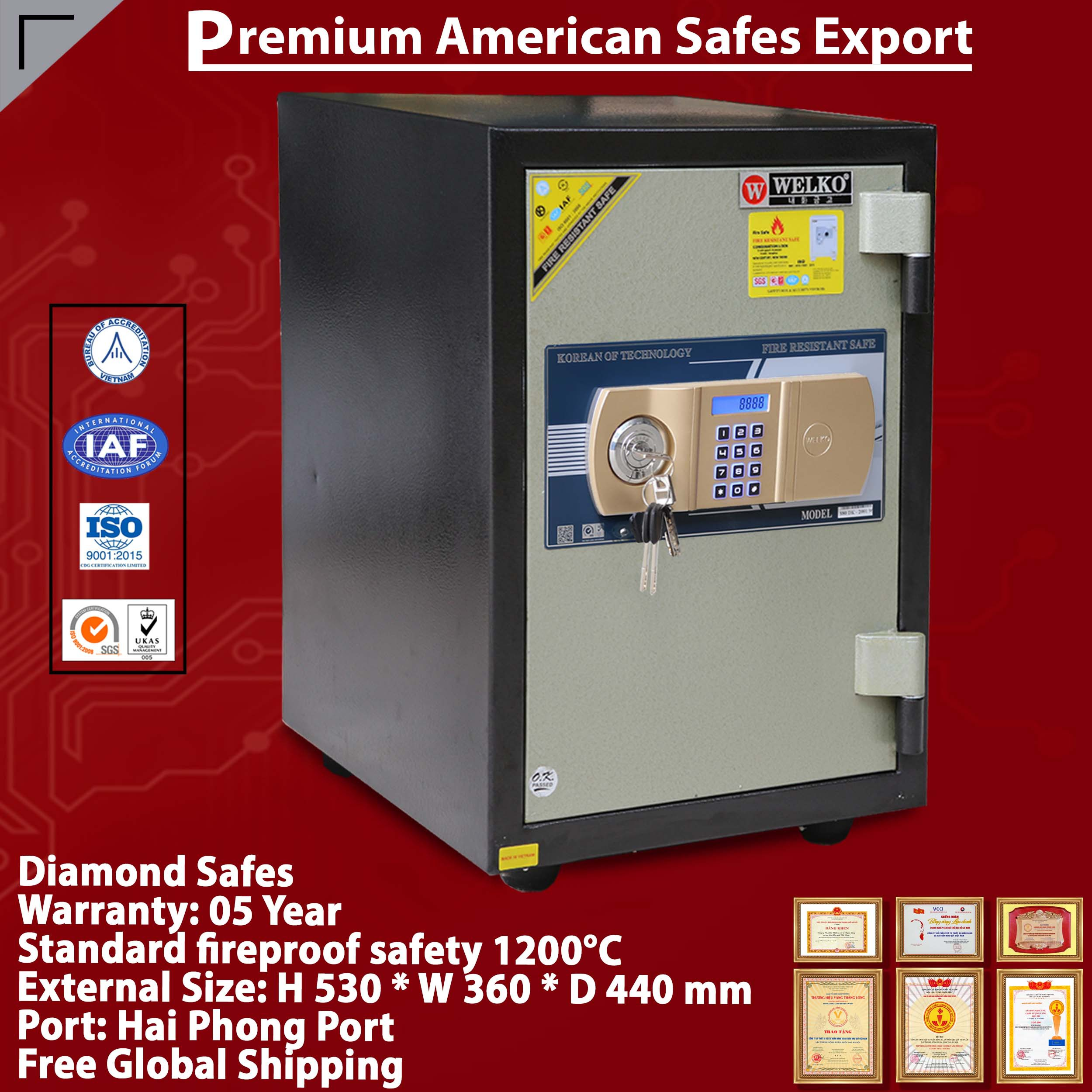 TWO DOOR SAFES