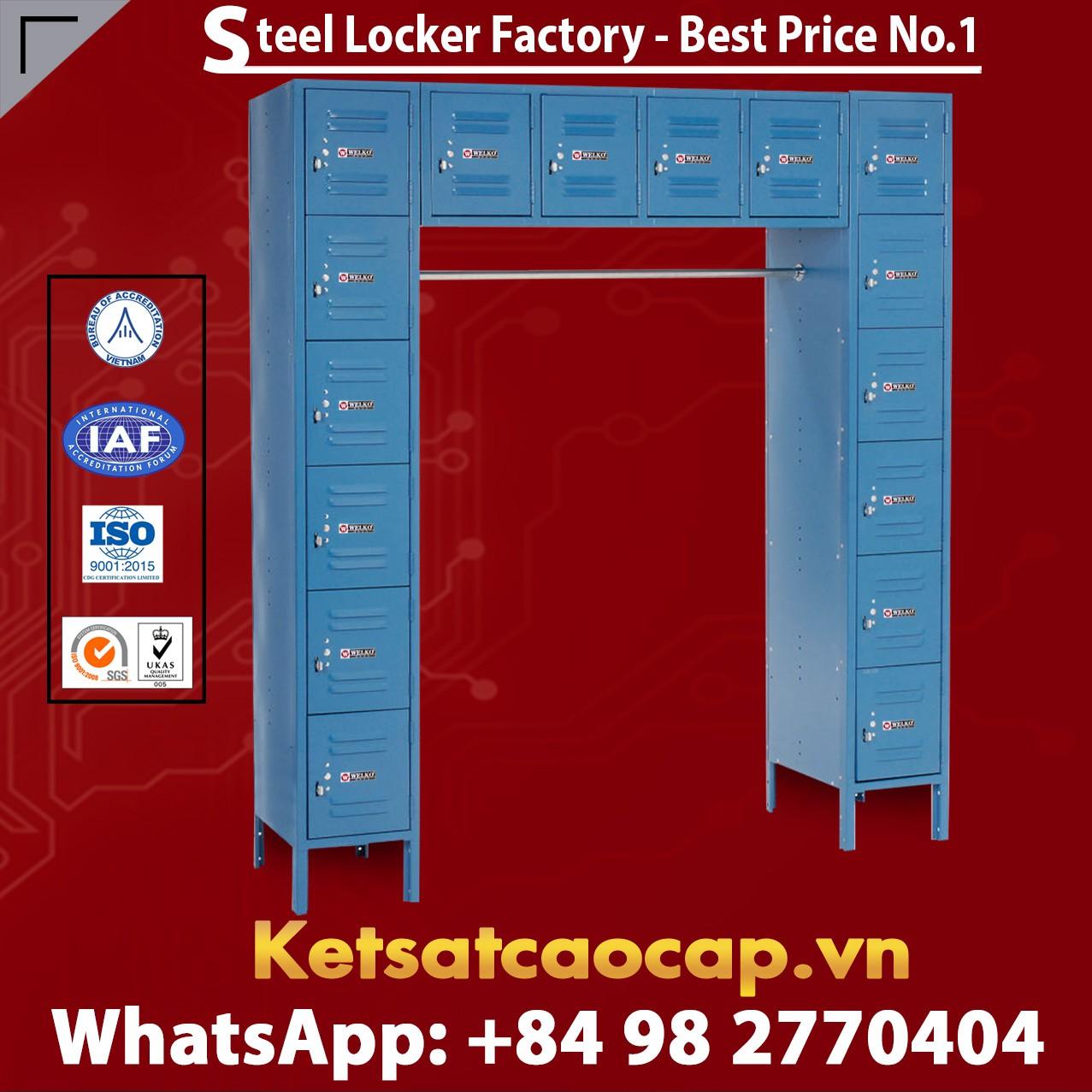 Steel Locker 12 x18x12 16 Door Ready To Assemble Blue