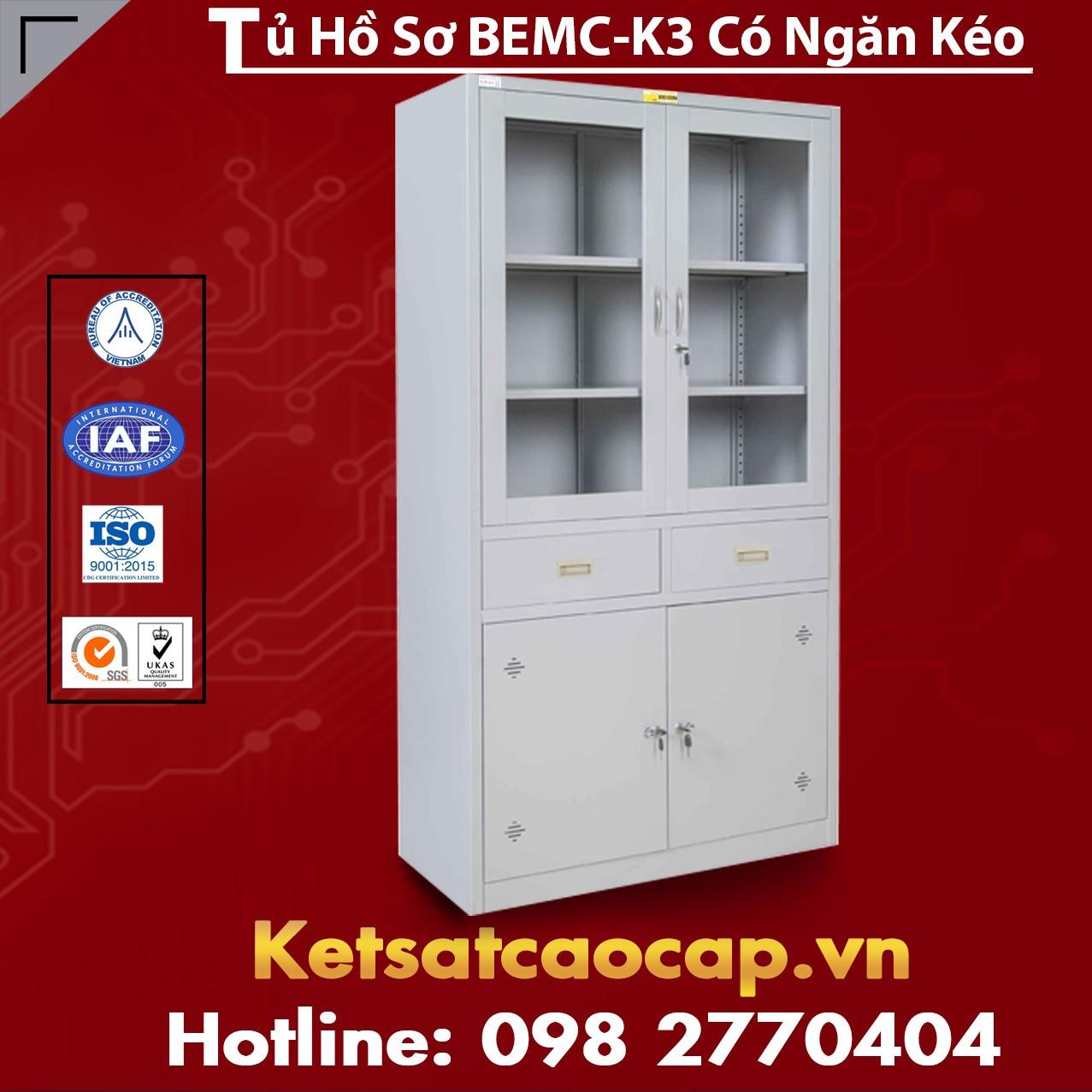 Tủ Hồ Sơ BEMC K3 Có Ngăn Kéo