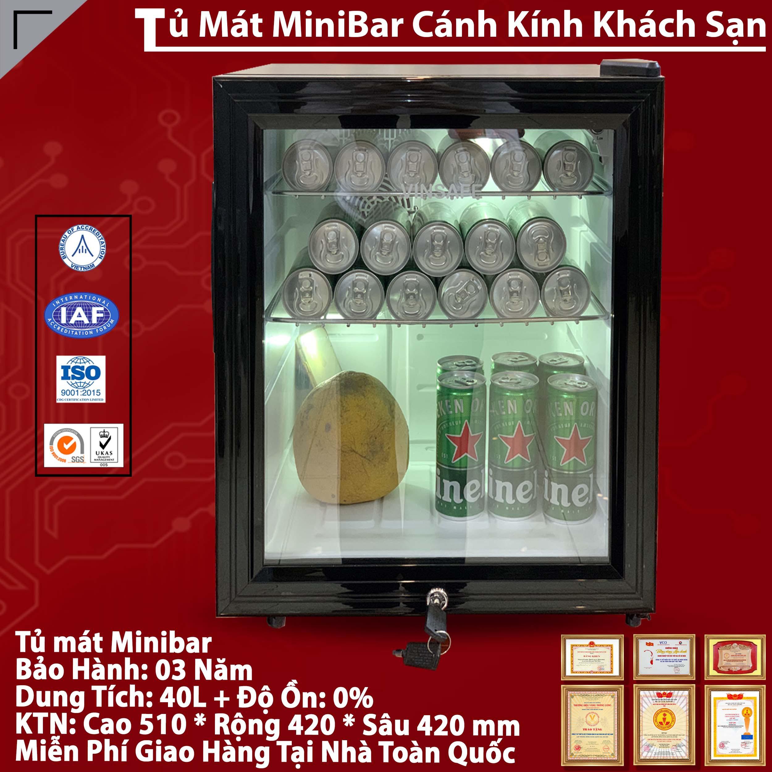 Tủ lạnh mini của kính