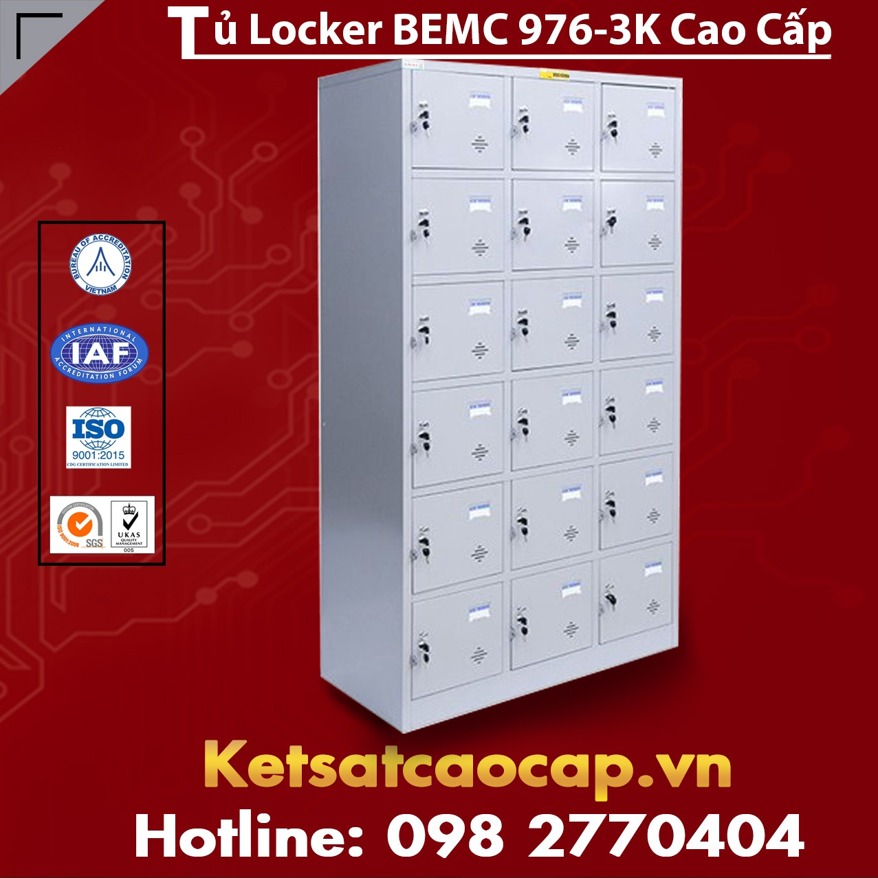 Tủ Locker BEMC 976-3K 1