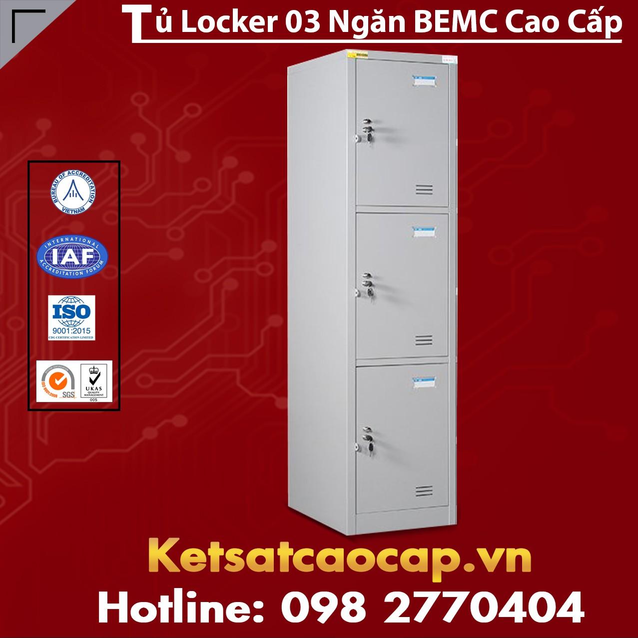 Tủ Locker 3 Ngăn BEMC