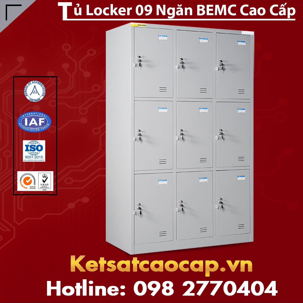 Tủ Locker 9 Ngăn BEMC