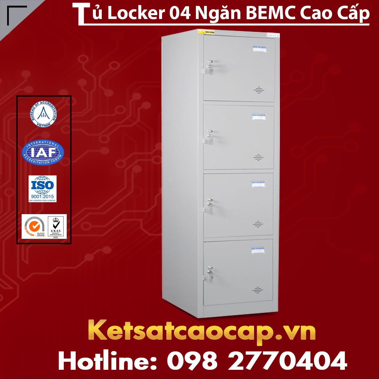 Tủ Locker Đơn 4 Ngăn