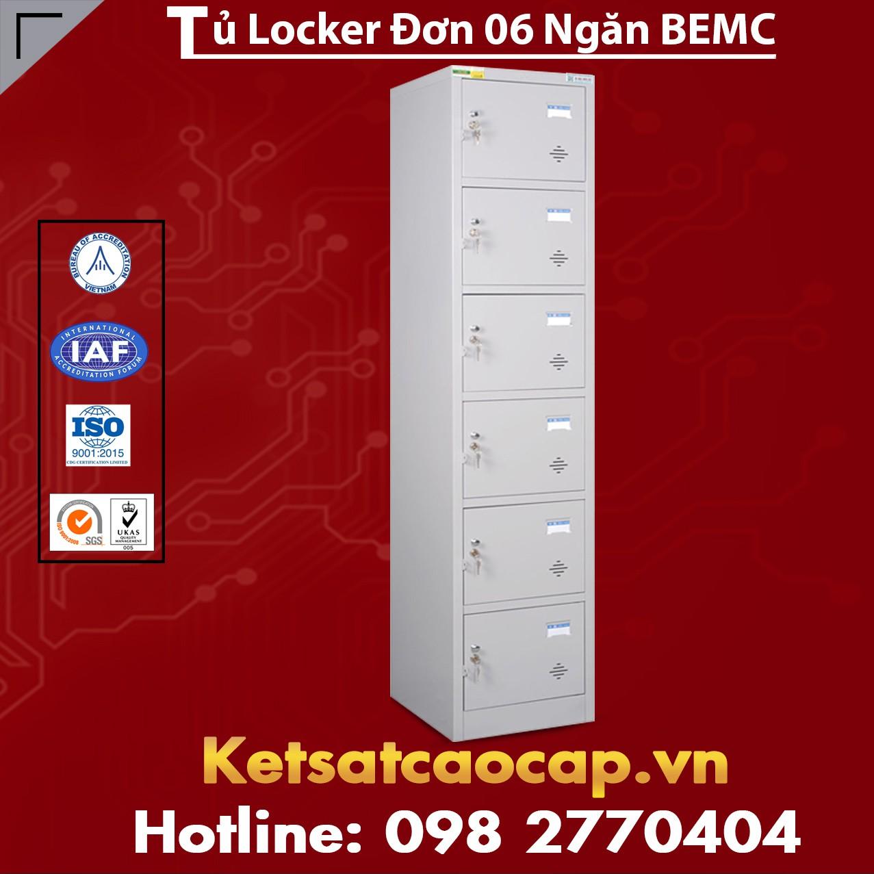 Tủ Locker Đơn 6 Ngăn