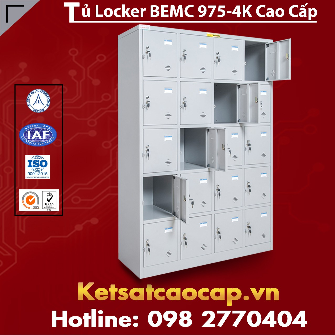 Tủ Locker BEMC 975-4K