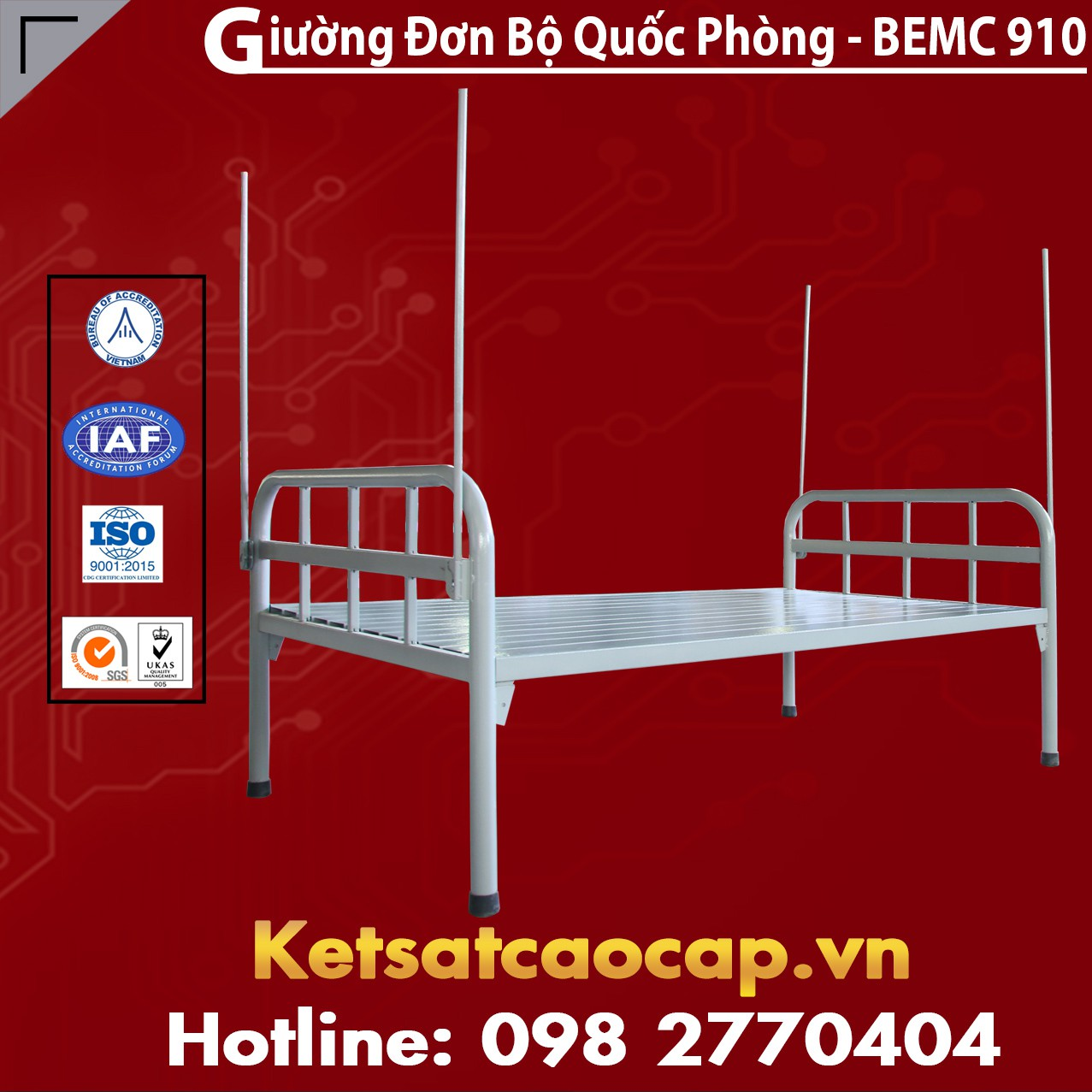 Giường Đơn Bộ Quốc Phòng BEMC - 910