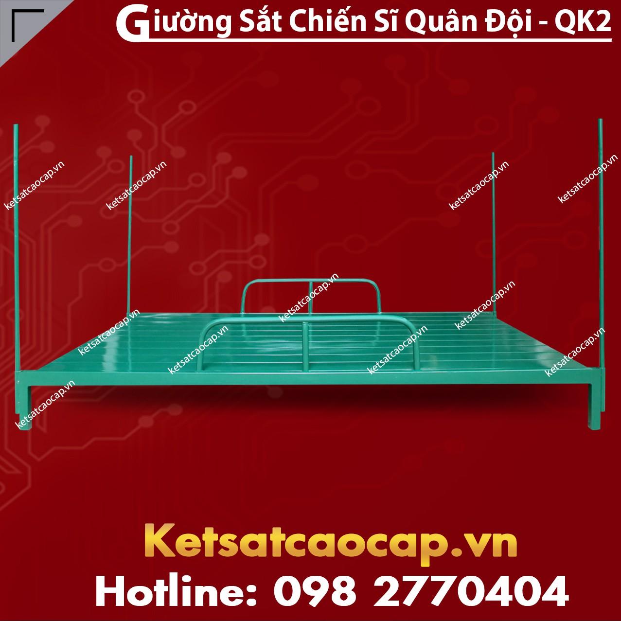 Giường Sắt Chiến Sĩ Quân Đội - QK2