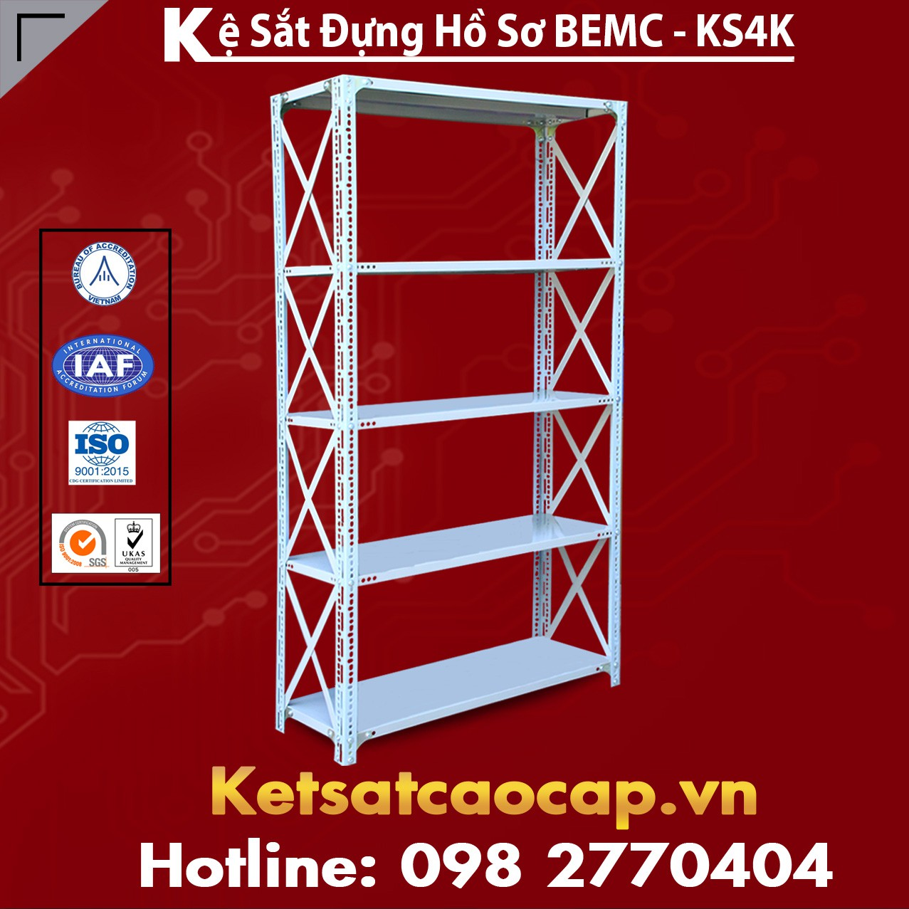 Kệ Sắt BEMC - KS4K