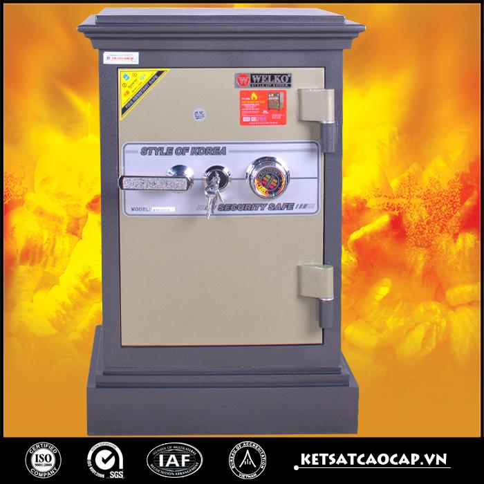 Két sắt an toàn KN45 đen Khóa cơ cánh vàng