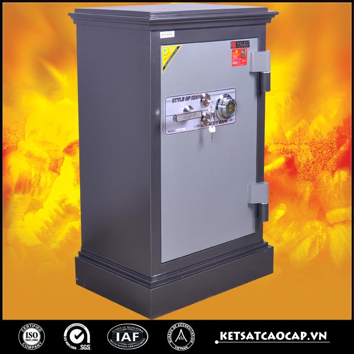 đặc điểm sản phẩm két sắt an toàn KN170 đen hai khóa cơ