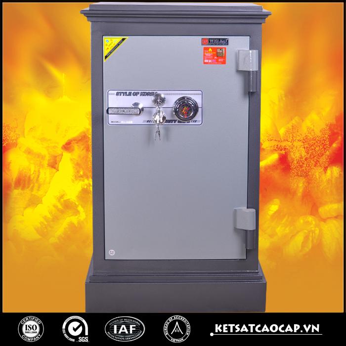 két sắt an toàn KN200 đen hai khóa cơ