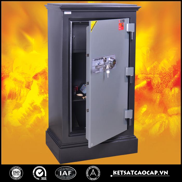 hình ảnh sản phẩm két sắt an toàn KN300 đen hai khóa