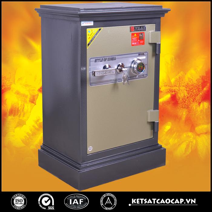 đặc điểm sản phẩm két sắt an toàn Kn54 đen khóa cơ cánh vàng