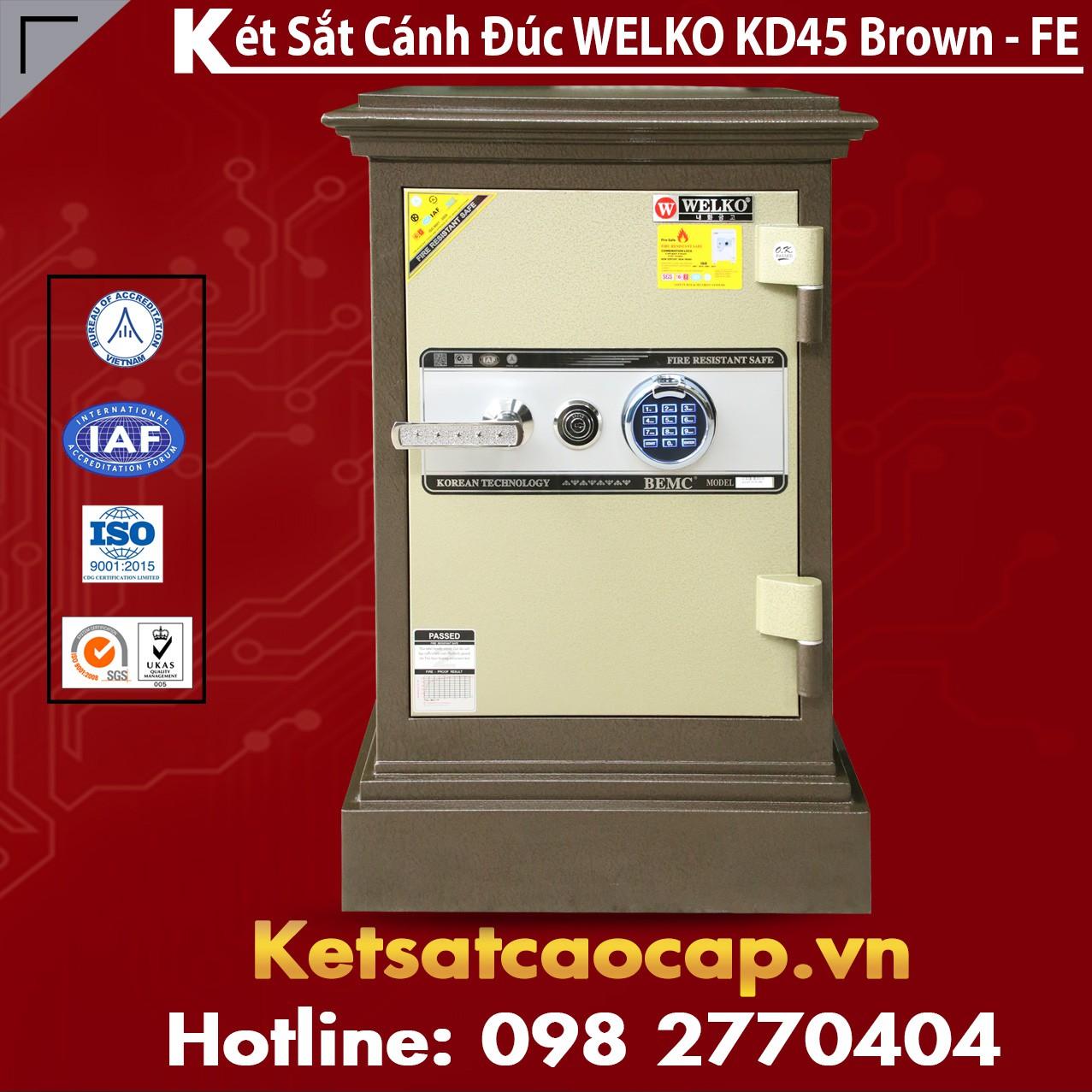 Két Sắt Gia Đình Hàn Quốc WELKO KD45 Brown - FE
